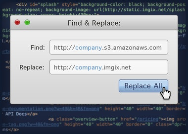 Replace all of your old image URLs with your new Imgix domain.